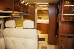 Interior of Modern Camper Royalty Free Stock Image