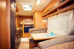 Interior of Modern Camper Royalty Free Stock Photography