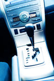 Interior of the modern car. With buttons and the lever royalty free stock image