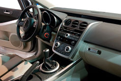 Interior of a Modern Car. Simple Yet Stylish and Balanced Interior of a Modern Japan Car Royalty Free Stock Photo