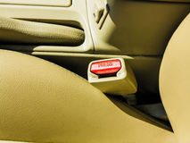 Interior modern car elements, close-up of seat belt Stock Photography