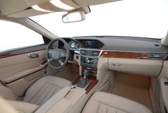 Interior of a modern car Royalty Free Stock Images