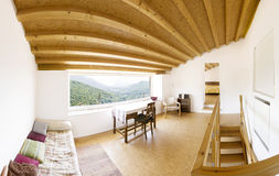 Interior, modern chalet Stock Images
