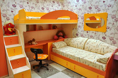Interior of modern children's room stock images