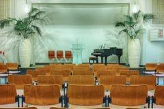 Interior of modern church. Seventh-day Adventist Church interior. Munich, Germany stock image