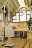 Interior Of Modern Church. Interior view of a modern church royalty free stock photography