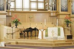Interior Of Modern Church. Interior view of a modern church stock photo
