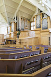 Interior Of Modern Church. Interior view of a modern church with empty pews stock photography