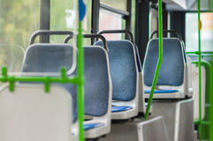 Interior of modern city bus Royalty Free Stock Image