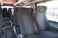 An Interior of modern city bus stock photography