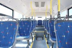 An Interior of modern city bus Stock Photos