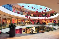 Interior of an modern city shopping centre Royalty Free Stock Photos