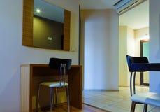 Interior of modern comfortable european resort hotel room Royalty Free Stock Photos