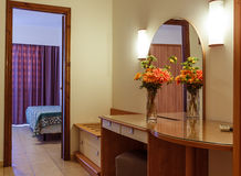 Interior of modern comfortable resort hotel room Stock Image