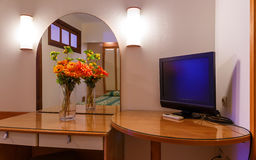 Interior of modern comfortable resort hotel room Royalty Free Stock Images