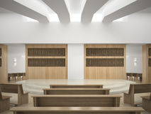 Interior of modern concert hall 3D rendering Royalty Free Stock Image
