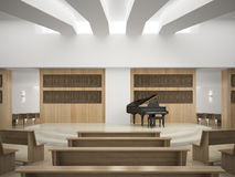 Interior of modern concert hall 3D rendering Stock Image