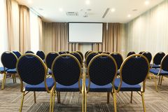 Interior of modern conference hall in hotel Royalty Free Stock Photo