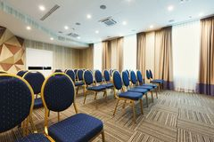 Interior of modern conference hall in hotel Royalty Free Stock Images