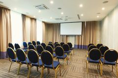 Interior of modern conference hall in hotel Stock Images