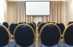 Interior of modern conference hall in hotel Royalty Free Stock Image