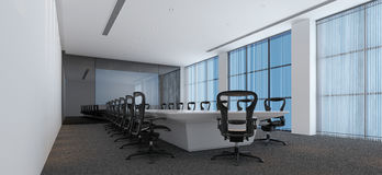 Interior of a modern conference room Royalty Free Stock Images