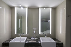 Interior. Of modern design badroom royalty free stock photos
