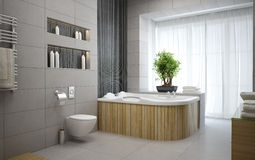 Interior of the modern design  bathroom Royalty Free Stock Images