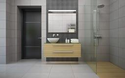 Interior of the modern design bathroom Royalty Free Stock Photography