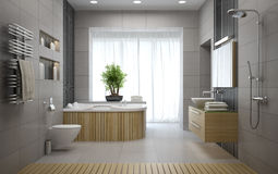 Interior of the modern design bathroom Stock Image