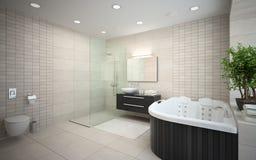 Interior of the modern design  bathroom Royalty Free Stock Image