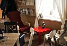 Modern design. Interior in modern design cafe Royalty Free Stock Photo