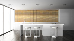 Interior of the modern design  kitchen Royalty Free Stock Photography