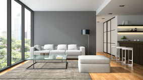 Interior of the modern design  loft Royalty Free Stock Image