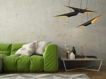 Interior modern design room 3D illustration Royalty Free Stock Image