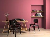 Interior modern design room 3D illustration Stock Images