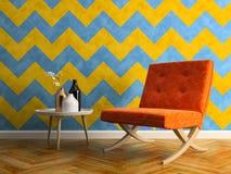 Interior modern design room 3D illustration Stock Photos