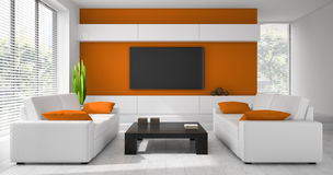 Interior of the modern design  room Royalty Free Stock Images