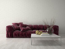 Interior of modern design room 3D rendering Royalty Free Stock Photography