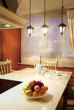 Interior of a modern dining room Royalty Free Stock Photos