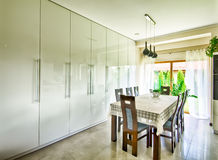 Interior of modern dining room Royalty Free Stock Photo