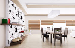 Interior of modern dining room Royalty Free Stock Images