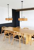 Interior of a modern dining room Royalty Free Stock Photo