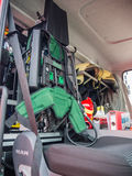 Interior of a modern Dutch fire truck Royalty Free Stock Images
