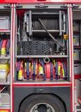 Interior of a modern Dutch fire truck Stock Photography