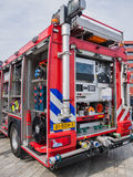 Interior of a modern Dutch fire truck Stock Photography