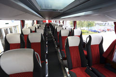 Interior of modern empty bus Royalty Free Stock Image