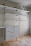 Interior of modern empty wardrobe room Stock Images