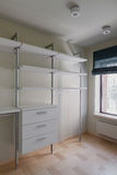 Interior of modern empty wardrobe room Stock Image