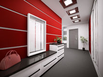Interior of modern entrance hall 3d render Royalty Free Stock Images